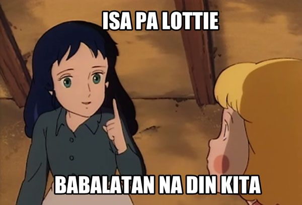 A meme featuring the classic anime A Little Princess Sara.