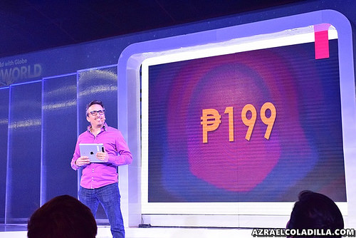 Bithos announcing the price of video on-demand service HOOQ for Globe subscribers. (Photo by Azrael Coladilla)