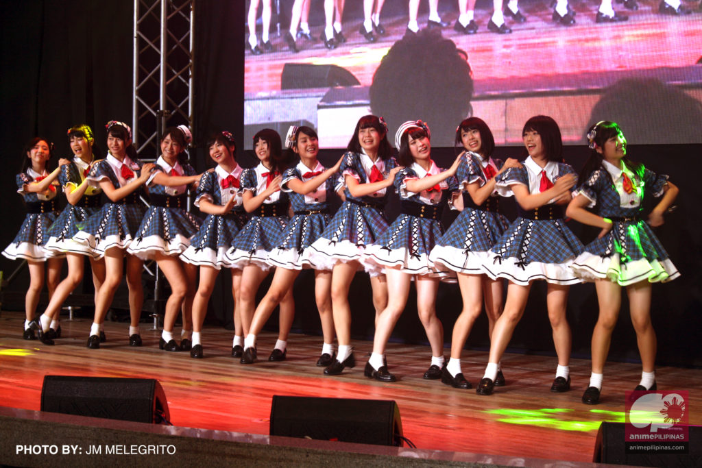 Popular Japanese idol group AKB48's Team 8, performing in the Philippines for the first time. (Photo from JM Melegrito / Anime Pilipinas)