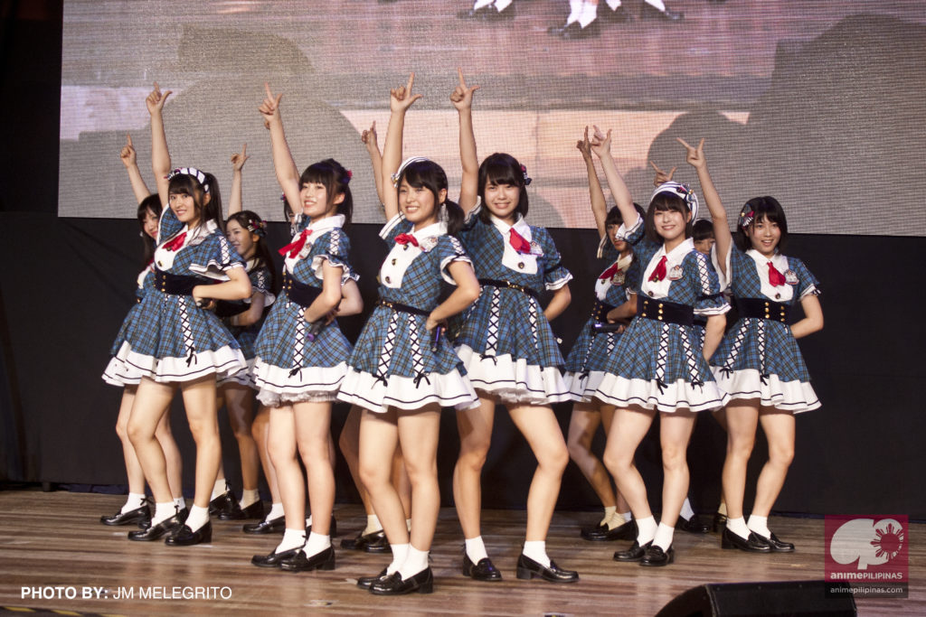 AKB48's Team 8, performing in the Philippines for the first time. (Photo from JM Melegrito / Anime Pilipinas)
