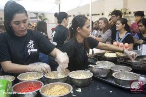 Japanese snacks Takoyaki and Okonomiyaki being sold at the event. (Photo from JM Melegrito / Anime Pilipinas)