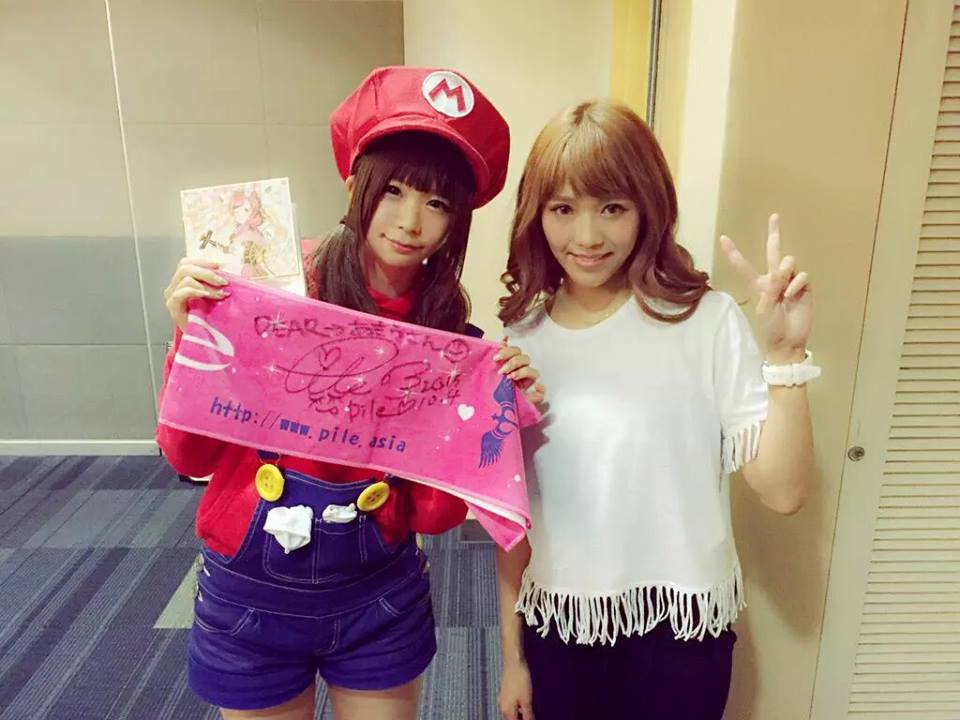 Popular cosplayer Itsuki Akira with Japanese singer and voice-actor Pile. (Photo from Itsuki Akira / Facebook)