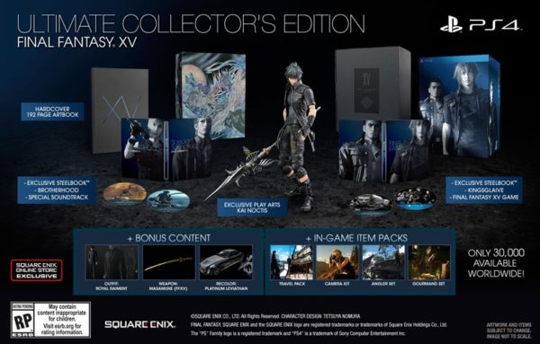 What's included in the Final Fantasy XV Ultimate Collector's Edition. (From the Square-Enix Online Store)