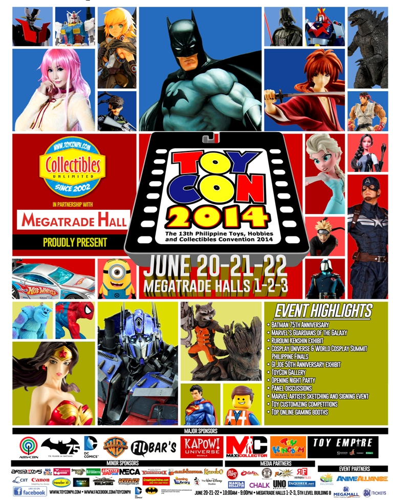 Official Poster for 13th Philippine Toys, Hobbies and Collectibles Convention