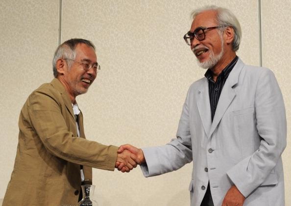 STUDIO GHIBLI founders Toshio Suzuki (L) and Hayao Miyazaki (R)