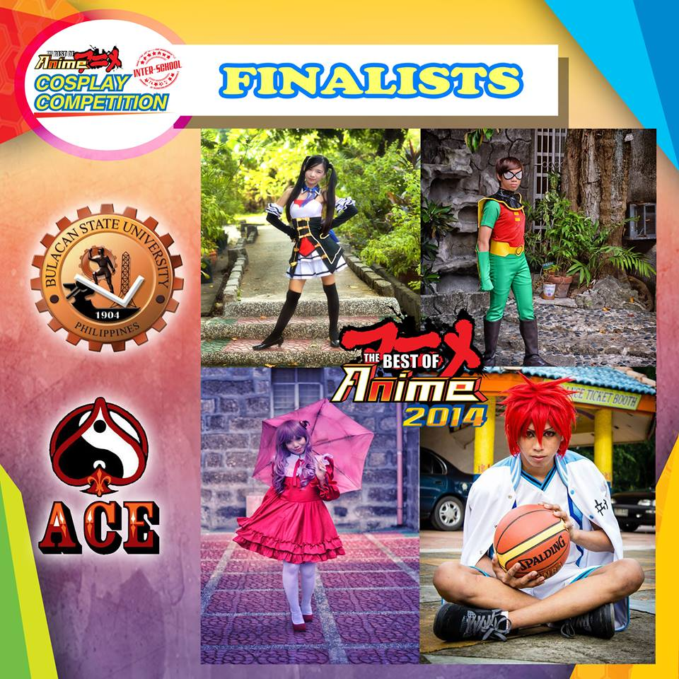 Finalists for the BEST OF ANIME 2014 Interschool Cosplay Competition. (Photo from Best of Anime's Facebook page)