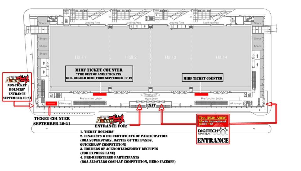 Entrance plan for Primetrade Asia events this Weekend. (Photo from Best of Anime's Facebook page)