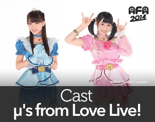 (from Left) Suzuko Mimori and Sora Tokui of Love Live! School Idol Project
