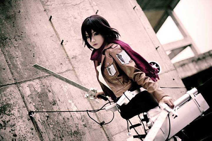 Aza Miyuko as Mikasa Ackerman of Attack on Titan (Photo from WorldCosplay.net)