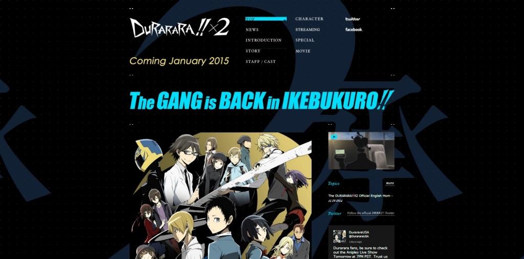 DURARARA!! x2 - English Website