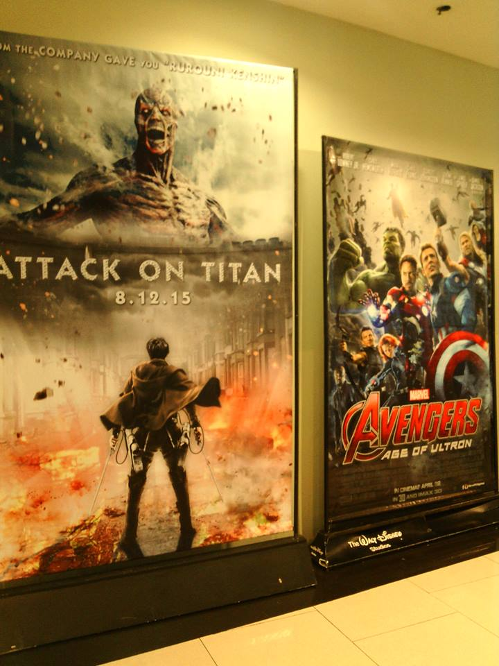 """The """"unofficial"""" Attack on Titan poster seen at Robinson's Place Manila. (Photo from Jennessy Rae Cordero / Facebook)"""