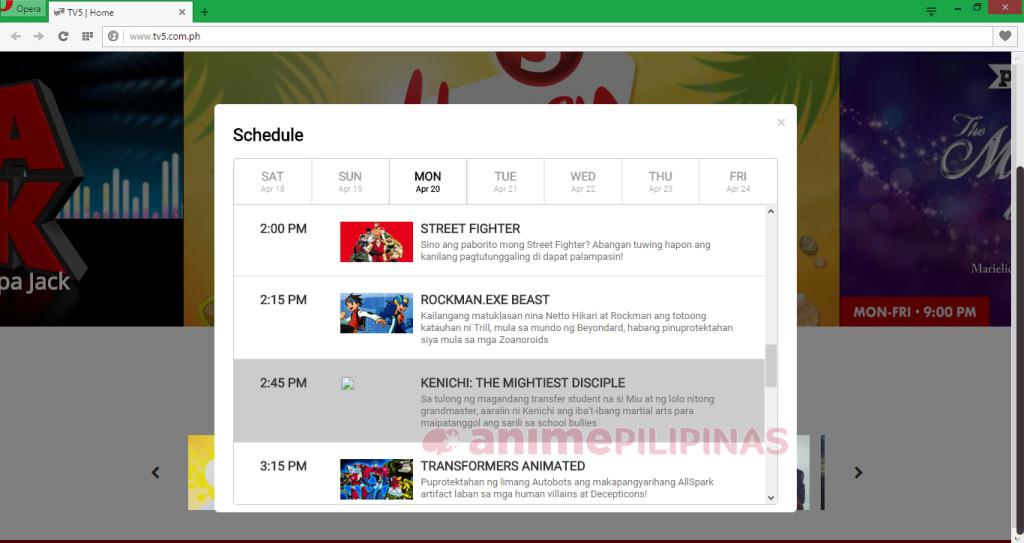 Screenshot from TV5.com.ph