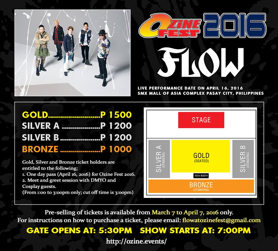 FLOW ticket prices