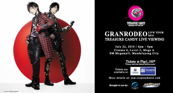 """LIVE VIEWING JAPAN - """"GRANRODEO LIVE TOUR 2016 TREASURE CANDY"""""""