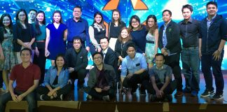 HalloHallo Entertainment President Paulo Kurosawa (center), together with executives and staffs of HHE, during the relaunch of Movie Stars Cafe restaurant last August 11, 2018. (Photo from JM Melegrito / Anime Pilipinas)